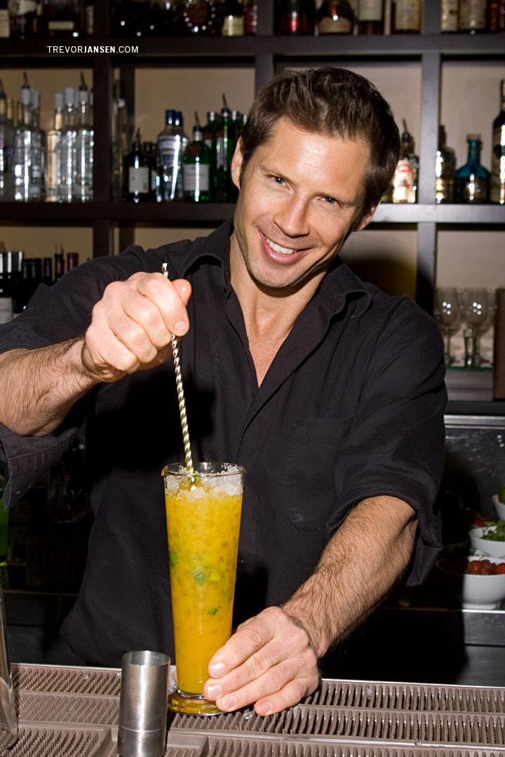 Portrait of bartender at George Lounge