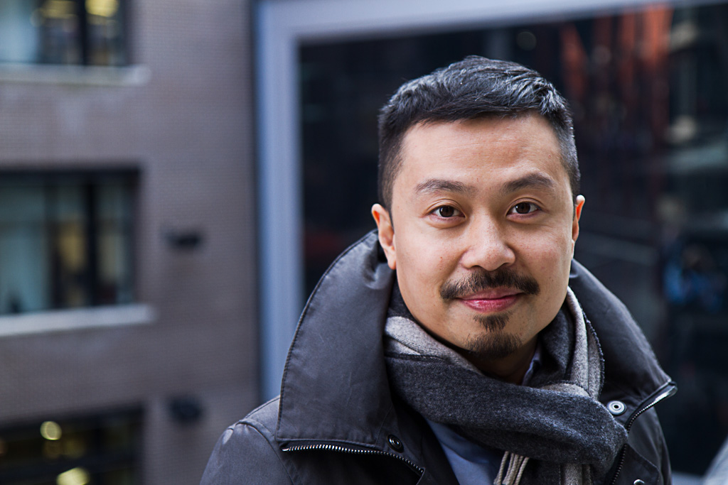 Portrait of Carson Ting at Creative Mornings