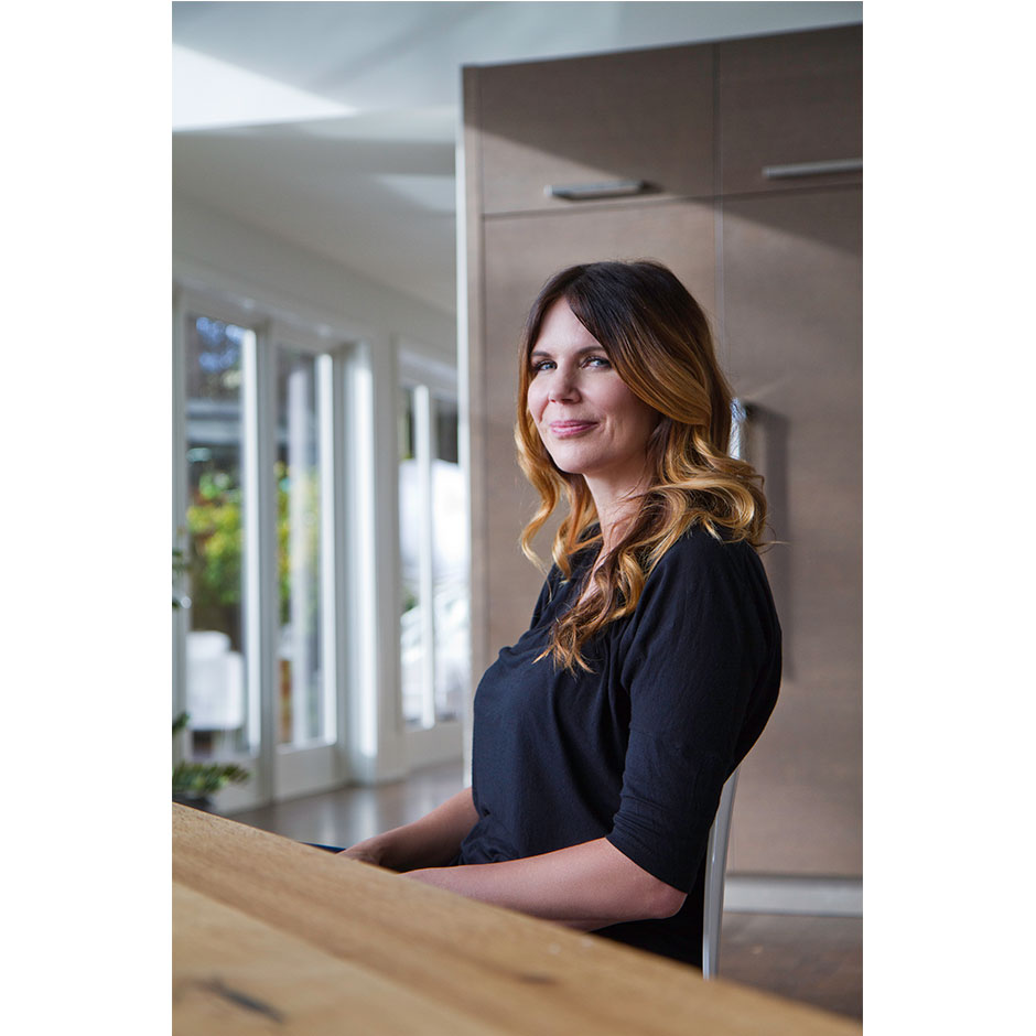 Celebrity portrait of Treana Peake in her West Vancouver home