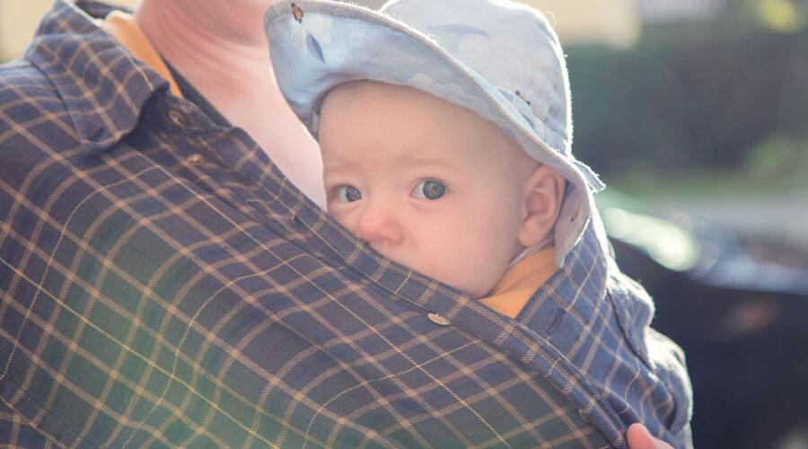 Inquisitive baby portrait