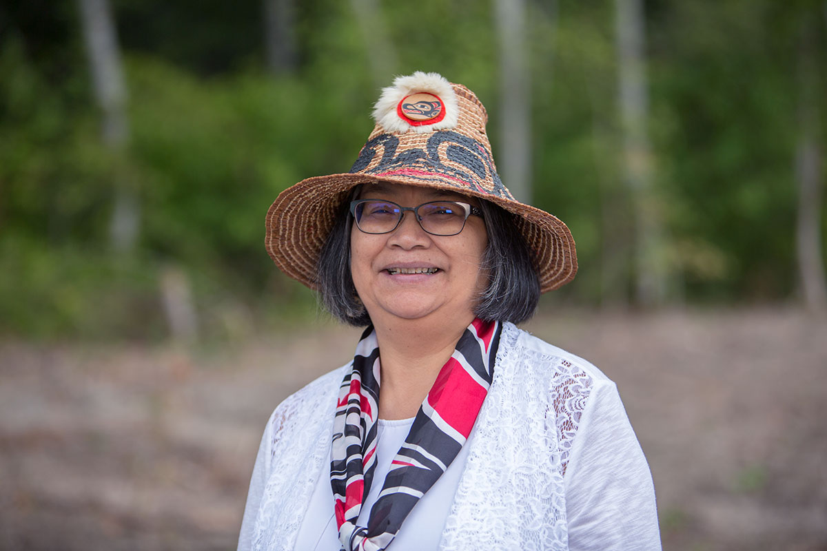 Portrait of First Nations Elder Sharon Bryant in Terrace, BC