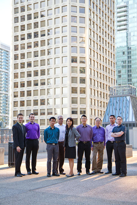Team photo of architectural team in downtown Vancouver