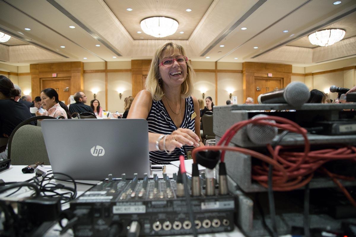 Conference audio check