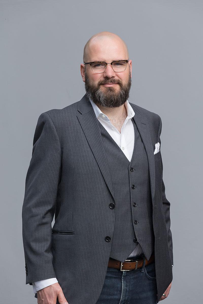 Public speaker portrait