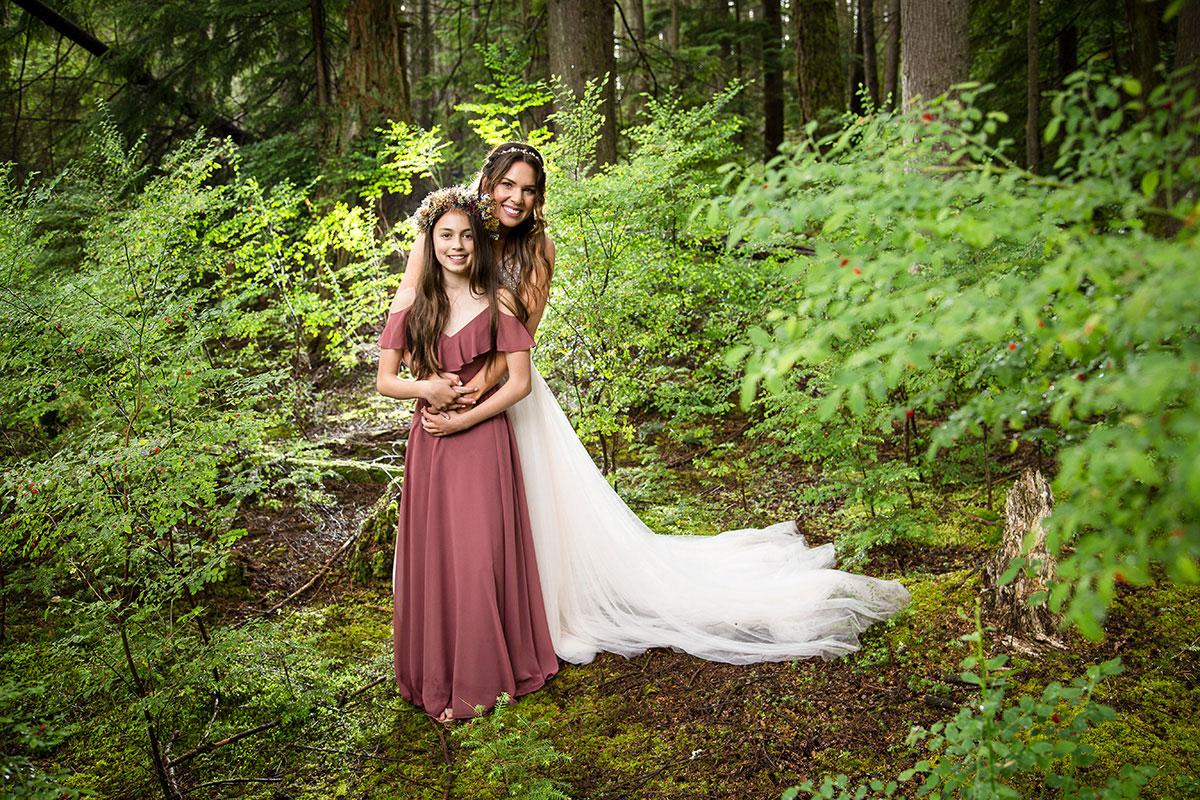 Fantastical forest portrait in British Columbia