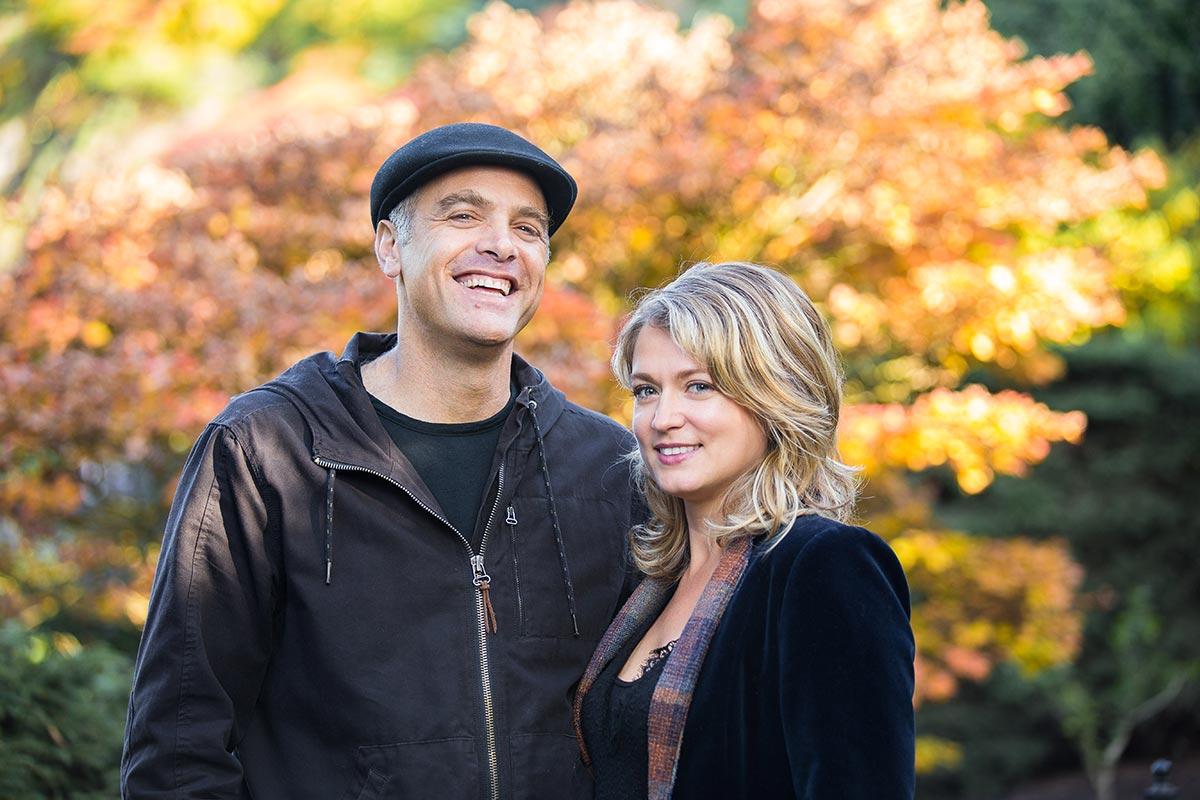 Couples portrait in Queen Elizabeth Park, Vancouver, BC