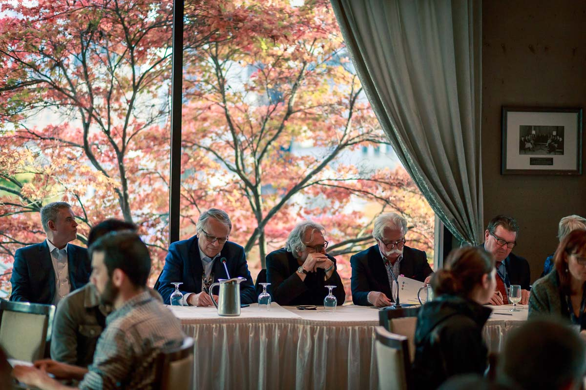 Panel discussion at a housing conference in Vancouver, BC
