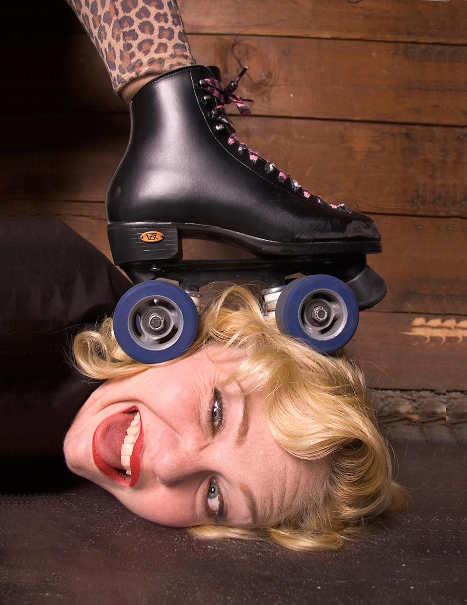 Commercial photography for Vancouver Roller Girls