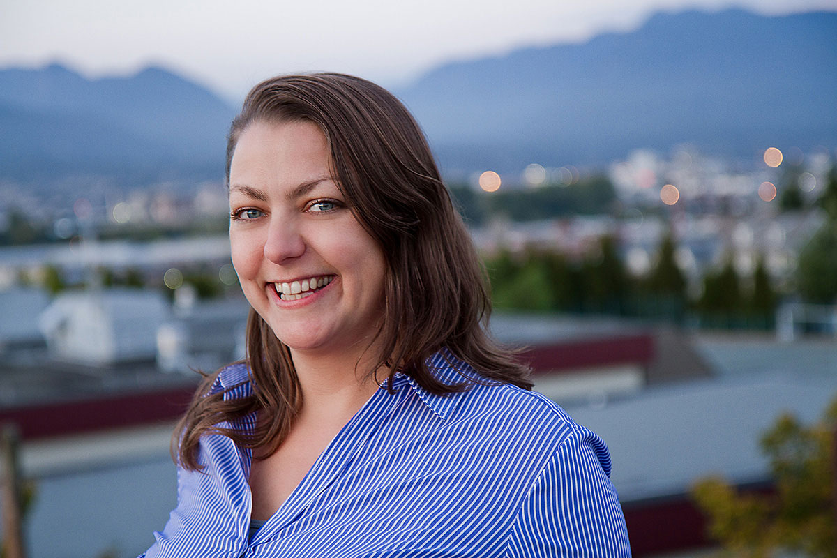 Portrait of business woman, Kameyo Melina, in East Vancouver